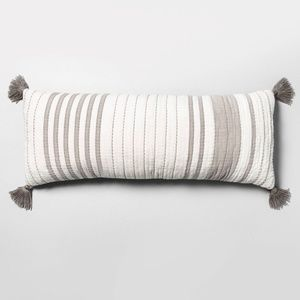 Hearth & Hand Oversized Striped Lumbar Pillow NWT